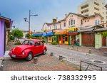 the streets of quito. ecuador.... | Shutterstock . vector #738332995