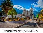 downtown of banos. ecuador....   Shutterstock . vector #738333022