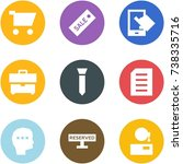 origami corner style icon set   ... | Shutterstock .eps vector #738335716