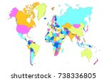 color world map | Shutterstock .eps vector #738336805