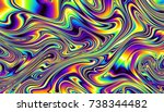 abstract digital fractal... | Shutterstock . vector #738344482