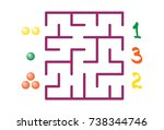 labyrinth with numbers for... | Shutterstock .eps vector #738344746