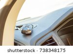 on the road  new car  keys... | Shutterstock . vector #738348175