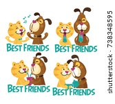 colorful friendship day... | Shutterstock .eps vector #738348595