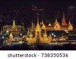 top view scene of construction... | Shutterstock . vector #738350536