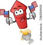 firework cartoon character | Shutterstock .eps vector #738350935