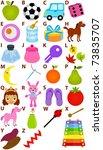vector of cartoons alphabet a... | Shutterstock .eps vector #73835707