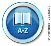 online dictionary a z icon | Shutterstock . vector #73836577