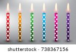 Set Of 6 Vector Candles....
