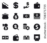 16 vector icon set   crisis ... | Shutterstock .eps vector #738371755