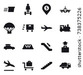 16 vector icon set   delivery ... | Shutterstock .eps vector #738375226