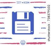 floppy disk icon | Shutterstock .eps vector #738379102