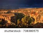 ihlara valley  turkey. the... | Shutterstock . vector #738380575