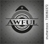 awful dark emblem | Shutterstock .eps vector #738382372
