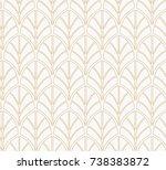 vector floral art nouveau... | Shutterstock .eps vector #738383872