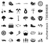 bbq rest icons set. simple...   Shutterstock . vector #738384808