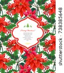 card with christmas star...   Shutterstock .eps vector #738385648