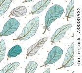 vector seamless pattern of air... | Shutterstock .eps vector #738389932