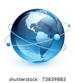 icon of earth on a white... | Shutterstock .eps vector #73839883
