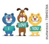 colorful friendship day or... | Shutterstock .eps vector #738401566