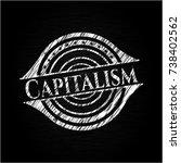 capitalism chalk emblem written ... | Shutterstock .eps vector #738402562