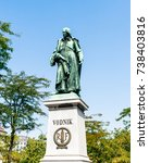 vodnik monument is named after... | Shutterstock . vector #738403816