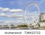 london eye  great britain ... | Shutterstock . vector #738422722