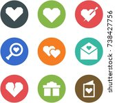 origami corner style icon set   ... | Shutterstock .eps vector #738427756