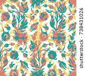 seamless organic ornaments... | Shutterstock .eps vector #738431026