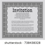 grey vintage invitation.... | Shutterstock .eps vector #738438328