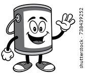 paint bucket waving illustration | Shutterstock .eps vector #738439252