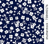 seamless floral pattern in... | Shutterstock .eps vector #738440176