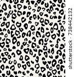 leopard pattern texture... | Shutterstock .eps vector #738442132