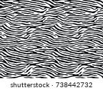 seamless zebra print  animal... | Shutterstock .eps vector #738442732