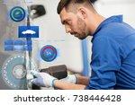 car service  repair ... | Shutterstock . vector #738446428