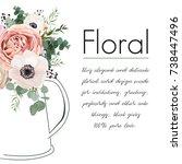 floral elegant card vector... | Shutterstock .eps vector #738447496