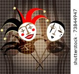 Two Masks Clown