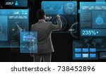 business  people  big data and... | Shutterstock . vector #738452896