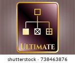 gold shiny emblem with... | Shutterstock .eps vector #738463876