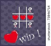 tic tac toe hearts  valentine... | Shutterstock .eps vector #73846714