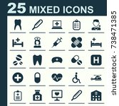 drug icons set. collection of... | Shutterstock .eps vector #738471385