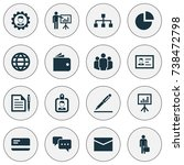 trade icons set. collection of... | Shutterstock .eps vector #738472798