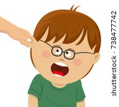 boy receives physical...   Shutterstock .eps vector #738477742