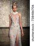 new york   october 5  a model...   Shutterstock . vector #738486706