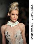 new york   october 5  a model...   Shutterstock . vector #738487366