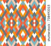 mosaic seamless texture. vector ... | Shutterstock .eps vector #738493315