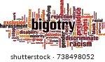 bigotry word cloud concept.... | Shutterstock .eps vector #738498052
