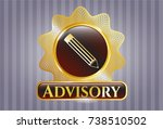 gold emblem or badge with... | Shutterstock .eps vector #738510502