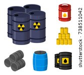oil drums container fuel cask... | Shutterstock .eps vector #738511042