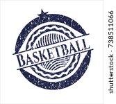 Blue Basketball Distress Rubbe...